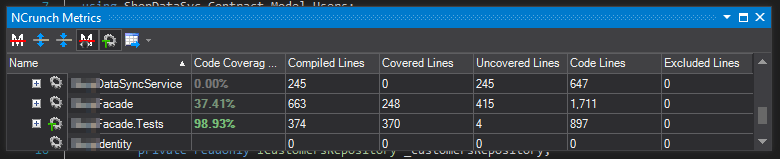 NCrunch code coverage