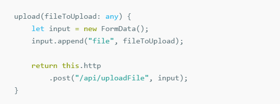 How to upload a file (image) from angular2 to asp net core