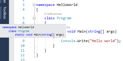 vs2017 Structure Guide Lines