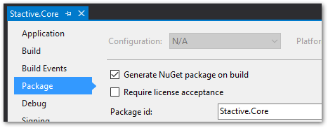 genearate package
