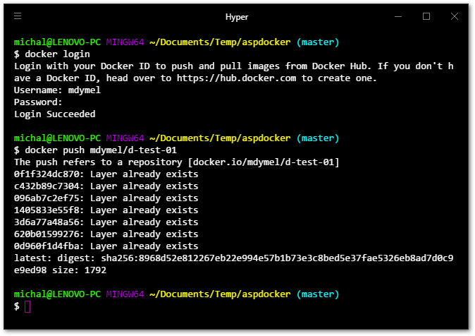 docker push image to docker hub